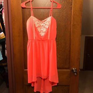 Coral orange Rue 21 summer dress